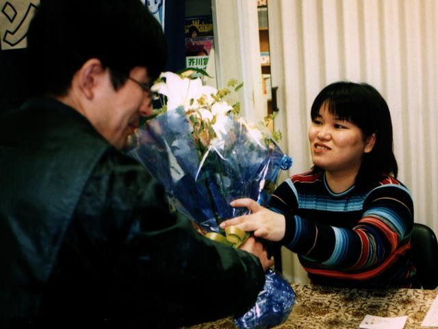 99/04/10 青木光恵サイン会 in 京都